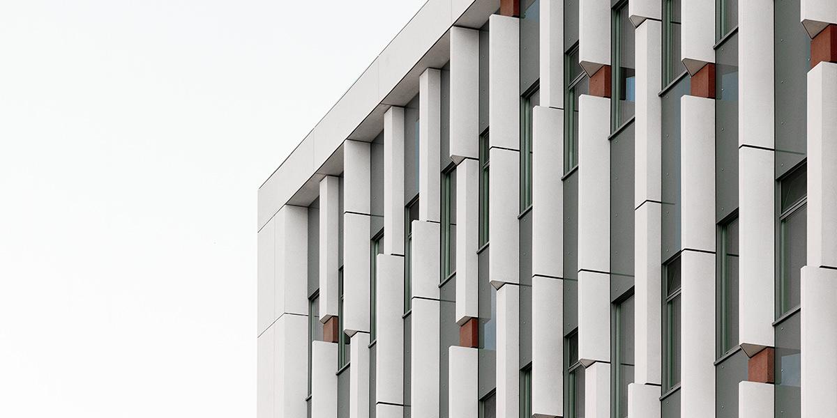 Curved facade panels for innovative facade designs, Rieder