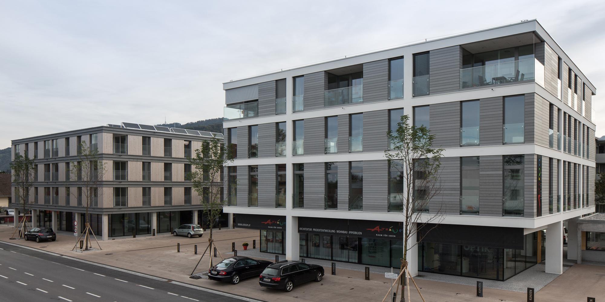 Residential and office building atrium facade architecture for Residential atrium